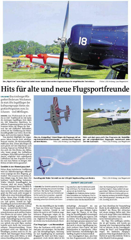 Hits für alte und neue Flugsportfreunde 08072016 Mittelbaverische