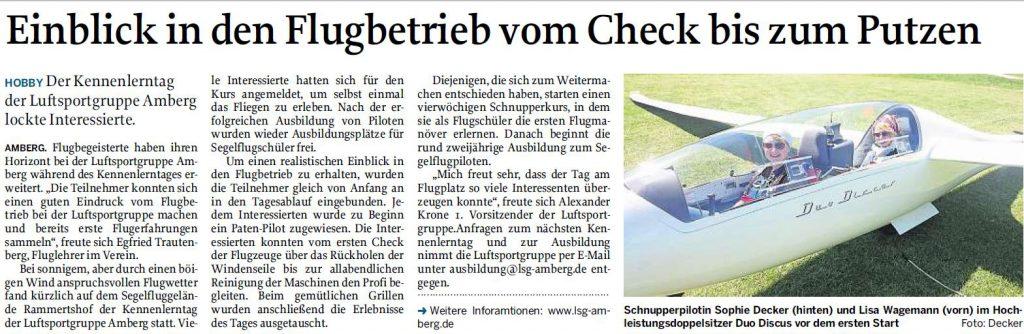 Einblick in den Flugbetrieb vom Check bis zum Putzen - Mittelbayerische Zeitung 18.05.2016